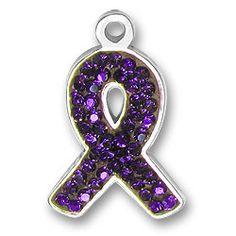 Love this for my charm bracelet. Pancreatic awareness--purple