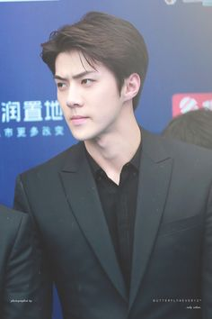 Sehun - 160409 16th Top Chinese Music Awards, red carpetCredit: Butterfly4ever12. (第十六届音乐风云榜年度盛典)