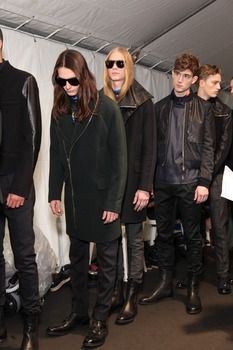 Behind the scenes at the AW12 men's catwalk show, Paris