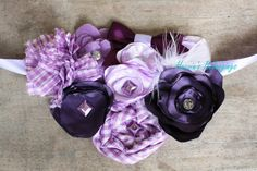 Purple Maternity Belly Sash by HeavinsBelongings on Etsy, $19.00