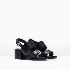 Image 2 of BLOCK HEEL SANDAL WITH BUCKLES from Zara