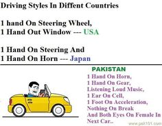 Funny Picture Driving Style In Different Countries   Pak101.com