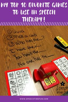 My Top 10 Favorite Games To Use In Speech Therapy