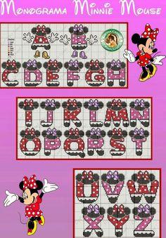 mini mouse cross stitch alphabet