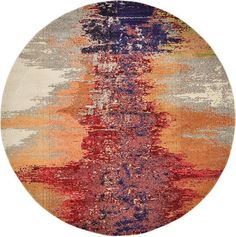 Orange Casablanca Area Rug