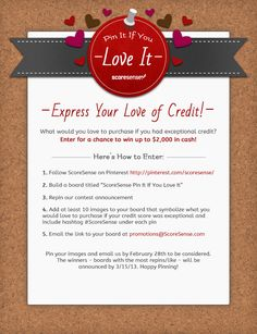 Pin It If You Love It Contest - Enter to win up to $2,000 in cash #ScoreSense
