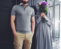 Cute Muslim Couples, Couples In Love, Niqab, Hijab Fashion, Fashion Outfits, Islam Marriage, Hijab Style Dress, Girls With Flowers, Girls Dpz