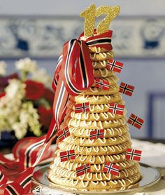 A Kransekake is usually eaten on special occasions, such as, weddings, baptisms, Christmas, and New Year's Eve
