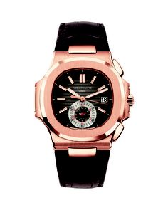 Patek Philippe rose gold Nautilus with alligator strap, above, retails for $ 64,000. (Patek Philippe / February 19, 2010)
