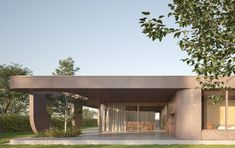Architetto in ticino villa di lusso Light Well, Glass Boxes, Flat Roof, Architect Design, Simple Lines, Concrete, Pergola, New Homes, Outdoor Structures
