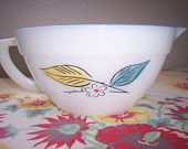 Vintage Fire King Salem Biscayne mixing bowl Retro Mid-Century by RetrospectiveResale on Etsy, $12.00 USD