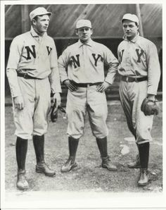 Another great find and posting from baseball's official historian, John Thorn. Mathewson, McGinnity & McGraw.