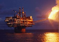North Sea Oil Platform