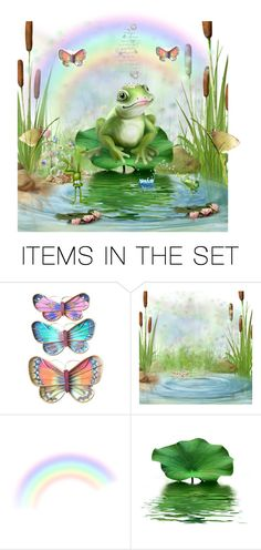 """""""Froggy Day"""" by krystalkm-7 ❤ liked on Polyvore featuring art"""