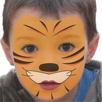 Maquillage Tigre simple, Tuto maquillage enfant - Loisirs créatifs