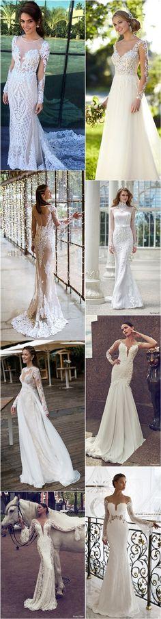vinatge lace wedding dresses with long sleeves