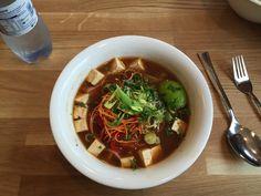 Vegan noodle soup at Núðluskálin.