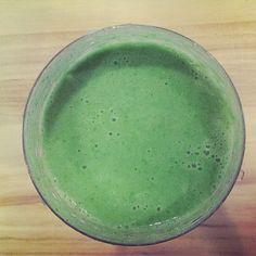 Lean Mean Super Green II - Nutribullet: kale, cucumber, celery, lime, lime zest, green apple, pineapple, coconut milk