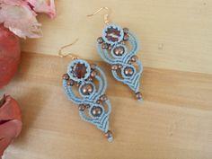 handmade earrings,macrame jewelry,macrame earrings,jasper earrings,boho earrings,bohemian jewelry,ethnic, gypsy earrings,brass beads,jwls