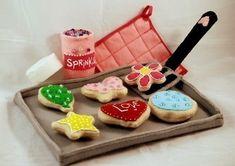 felt baked treats pattern