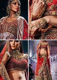 India Bridal #Couture Week 2015: @suneetvdesign #Swarovski Crystal Couture http://SuneetVarma.in/