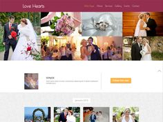Today, we are happy to share with you a template new and attractive. Love Hearts is a free bootstrap template for wedding planners and event managers. It comes with free Flat Responsive web design template. Love Hearts web template is built in a Fancy style however it can be customized as per the user requirements.