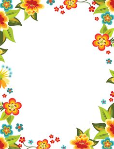 """wers that blossomed"""" letter pad Page Borders Free, Page Borders Design, Borders For Paper, Borders And Frames, Winnie The Pooh Drawing, Flower Graphic Design, Boarder Designs, School Frame, Frame Clipart"""