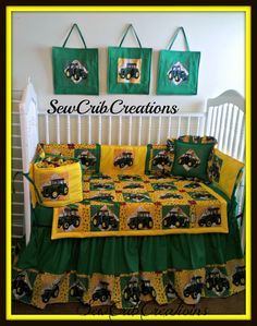 John  Deere bedroom ideas | ... John Deere Crib Bedding Set - SewCribCreations Nursery Designs