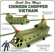 Scroll Saw Magic Chinook Chopper Vietnam Wood Toy Plan Set
