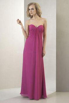 Sheath Sweetheart Beaded Chiffon Floor Length Bridesmaid Dress