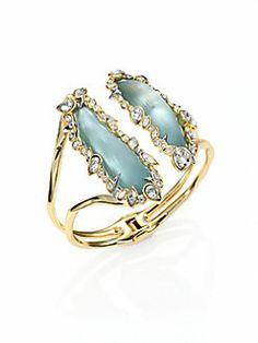 Alexis Bittar - Jeweled Lucite Open Cuff Bracelet
