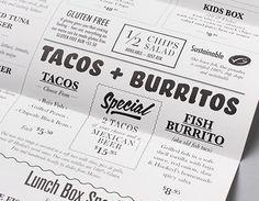 takeaway menu design - Google Search