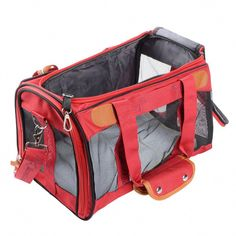 Saim Premium Airline Approved Foldable Pet Travel Carrier, Soft Sided Tote with Fleece Puppy Bedding, Under Seat Crate Compatibility, Perfect for Midium Dogs Cats Plastic Dog House, Crate Seats, Pet Travel Carrier, Under Bed, Dog Crate, Pet Supplies, Crates, Diaper Bag, Puppies