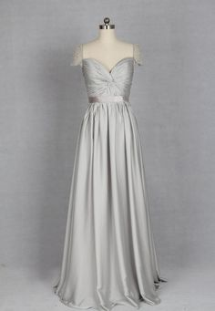 long bridesmaid dresses, gray bridesmaid dress, chiffon bridesmaid dress, modest bridesmaid dresses, cap sleeve bridesmaid dress, E130 · lovebridal · Online Store Powered by Storenvy Prom Dresses With Sleeves, Cheap Prom Dresses, Satin Dresses, Dress Prom, Dress Formal, Long Dresses, Silver Bridesmaid Dresses, Wedding Dresses, Bridesmaids