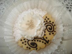 les sablés de la mariée Tunisian Food, Chocolate Cookies, Biscuits, Muffins, Chips, Food And Drink, Sweets, Fondant, Cake