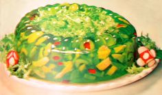 bring a jello mold for the next patio potluck. the more colorful the better-and don't worry about what it will taste like cause no one will eat it!