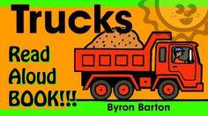 "Read-Aloud: ""Trucks Board Book"" by Byron Barton - A Book for Kids"