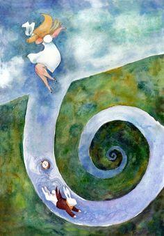 hoyo en espiral, ilustración de Gillian Goerz