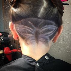 #napeshave #undercut #butterfly See this Instagram photo by @xuxa_c