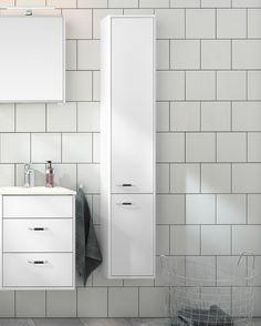 Badrumsförvaring från Graphic. Får plats även i det mindre badrummet.