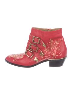 Chloé Suzanna Studded Ankle Boots - Shoes - CHL70622 | The RealReal