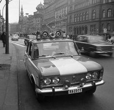 VIII. József körút a Blahánál. 1974 - Hungary - Police car