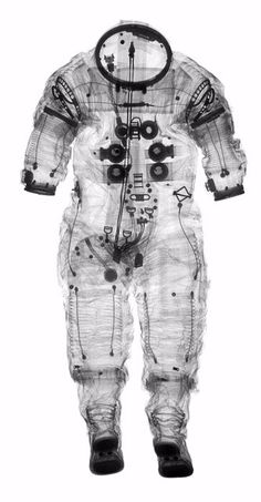 X-Rayed astronaut suit