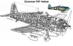 AVIÕES MILITARES: Grumman F6F Hellcat