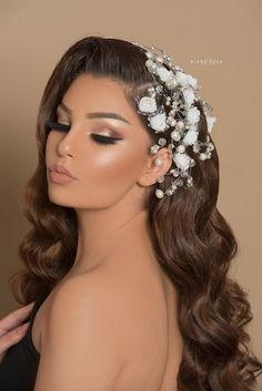 Natural wedding day glam💎 - Make up - Bridal Makeup Looks, Bridal Hair And Makeup, Wedding Hair And Makeup, Hair Makeup, Makeup For Brides, Quince Hairstyles, Bride Hairstyles, Pretty Hairstyles, Best Wedding Hairstyles