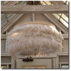 Rachel Ashwell Shabby Chic Couture Feather Light Chandelier White Decorating