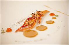 Rangée de langoustines - Crawfish line - Langostinos la fila C'est la danse culinaire des crustacés ! ;) (Chef Gianfranco Chiarini)