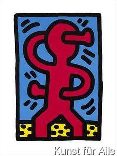 keith haring tanzende m nnchen kunstdruck pop art pinterest keith haring keith haring. Black Bedroom Furniture Sets. Home Design Ideas