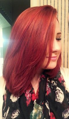 Red hair for fall.