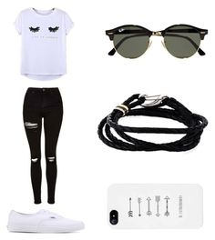 """Get lucky"" by directioner1706 ❤ liked on Polyvore featuring Topshop, Chicnova Fashion, Vans, Ray-Ban and Paul Smith"